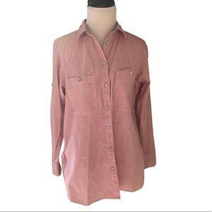 {rag & bone/SHIRT} Red White Check Boyfriend Shirt